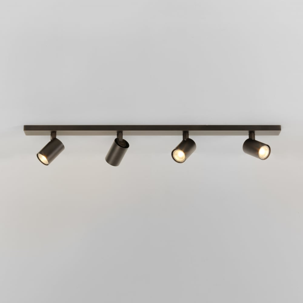 Astro 7844 ascoli 4 light wall spotlight white 7844 ascoli four bar 4 light spotlight bronze aloadofball Image collections