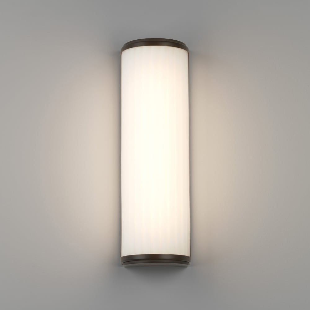 Led Bathroom Wall Lights Uk: Astro 7983 Monza 400 LED IP44 Wall Light Bronze