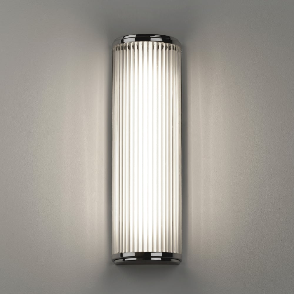bathroom light wall fixtures astro 7838 versailles 400 led ip44 wall light polished chrome 16114