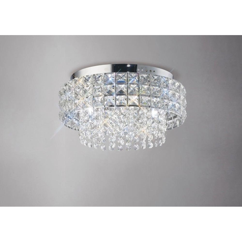 Diyas edison crystal flush ceiling light polished chrome il31150 edison round 4 light crystal flush ceiling light polished chrome aloadofball Images