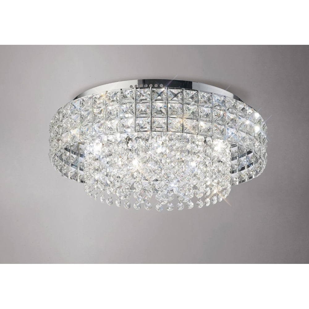 Diyas edison crystal flush ceiling light polished chrome il31151 edison round 7 light crystal flush ceiling light polished chrome aloadofball Gallery