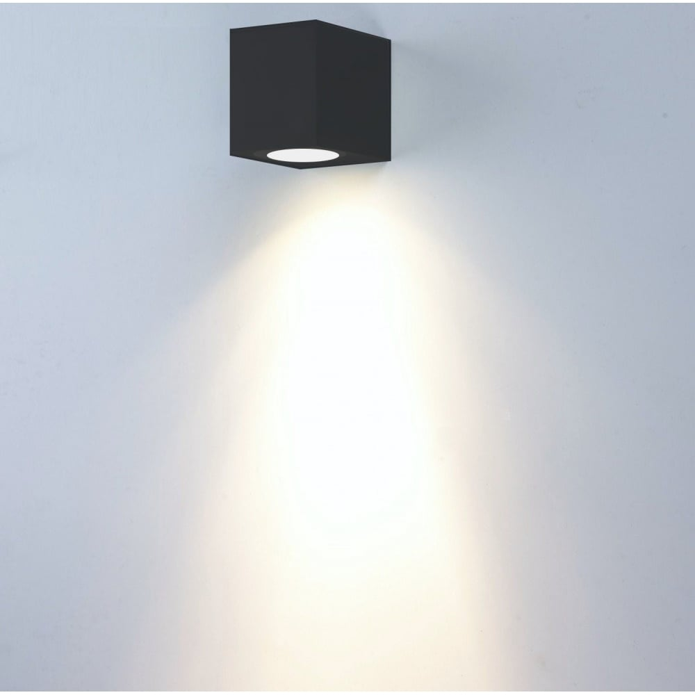 Al wlsq1 outdoor wall light garden 1 light square wall light al wlsq1 1 light outdoor blackwhitestainless wall light fixed ip44 aloadofball Image collections