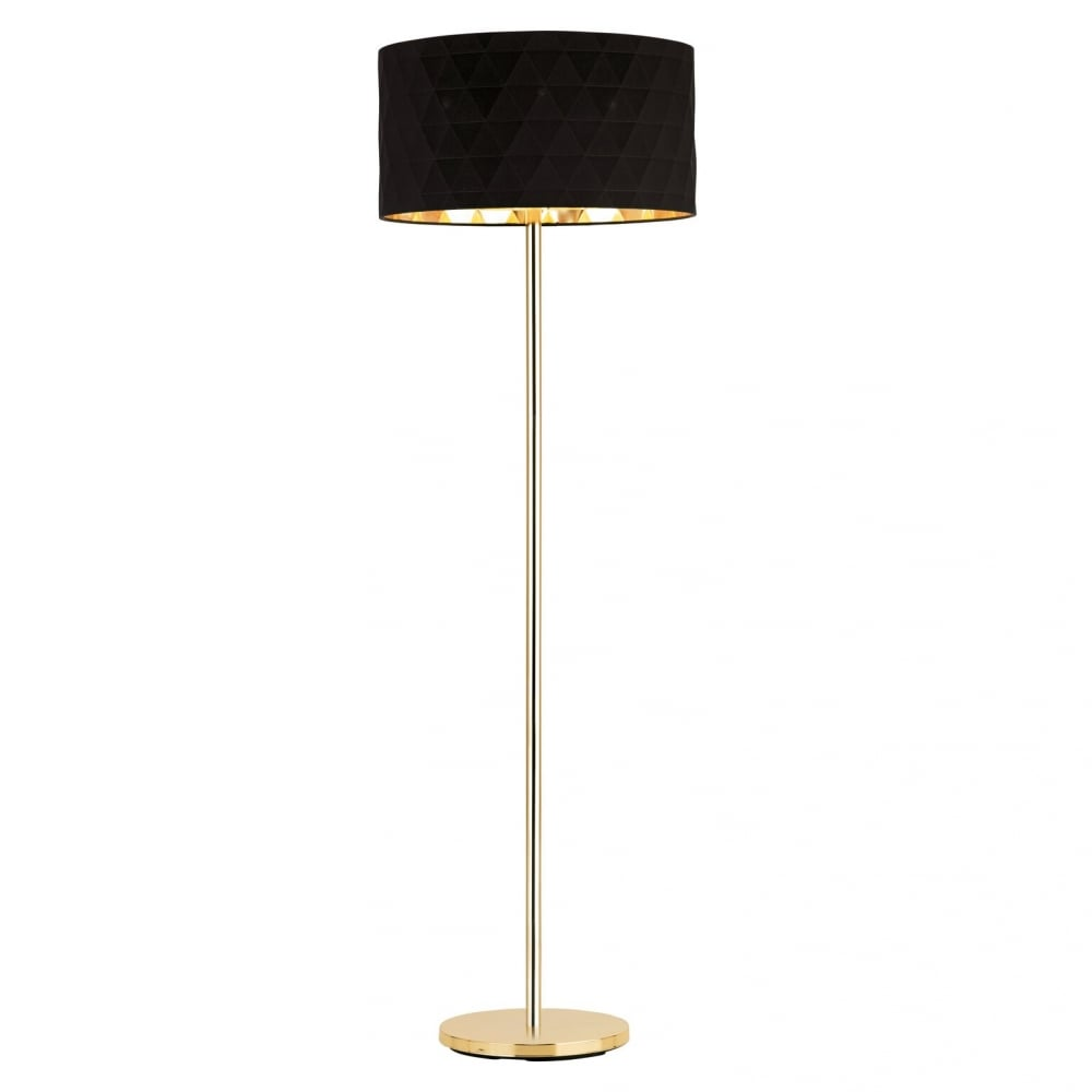 Eglo 39223 floor lamp black and gold eglo 39228 dolorita floor lamp gold black aloadofball Images