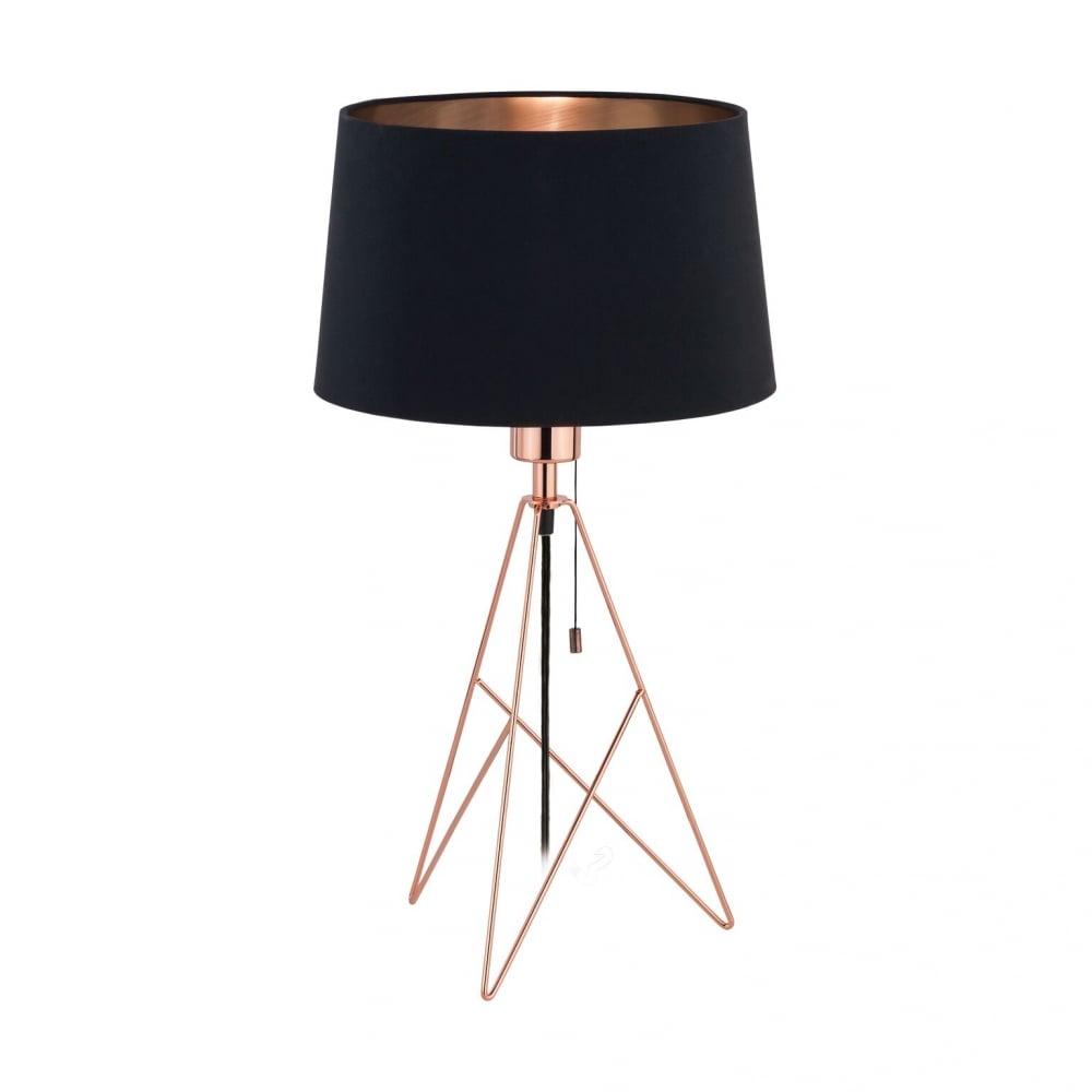 Ordinaire Eglo 39178 Camporale 1 Light Table Lamp Copper