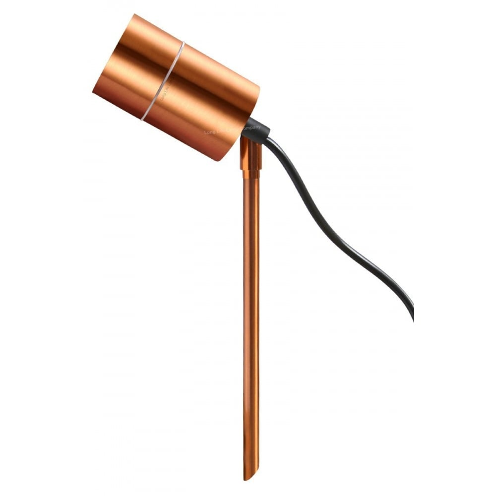 Outdoor Spike Light Stainless steel copper spike light garden spike light al gu10 cp outdoor spike light copper finish ip54 workwithnaturefo