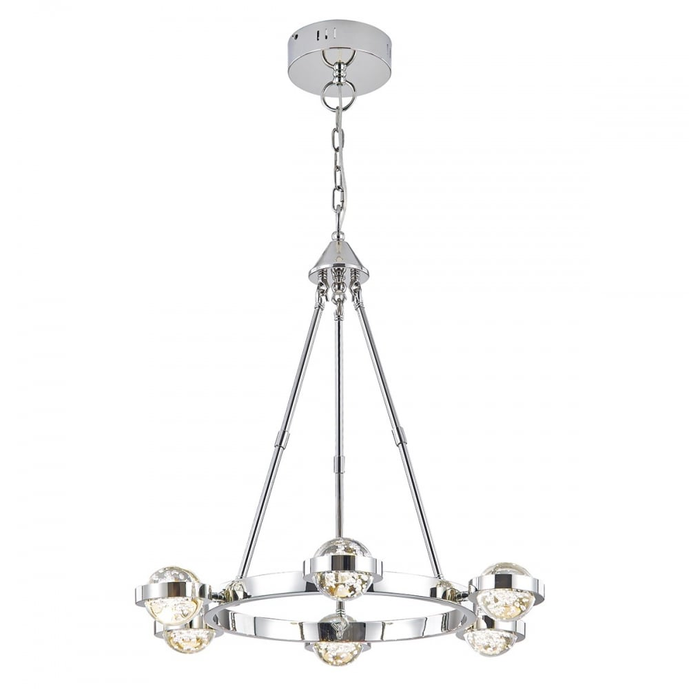 Childrens lighting childrens lights ocean lighting dar liv0650 livia 6 light ceiling pendant glazed polished nickel arubaitofo Gallery
