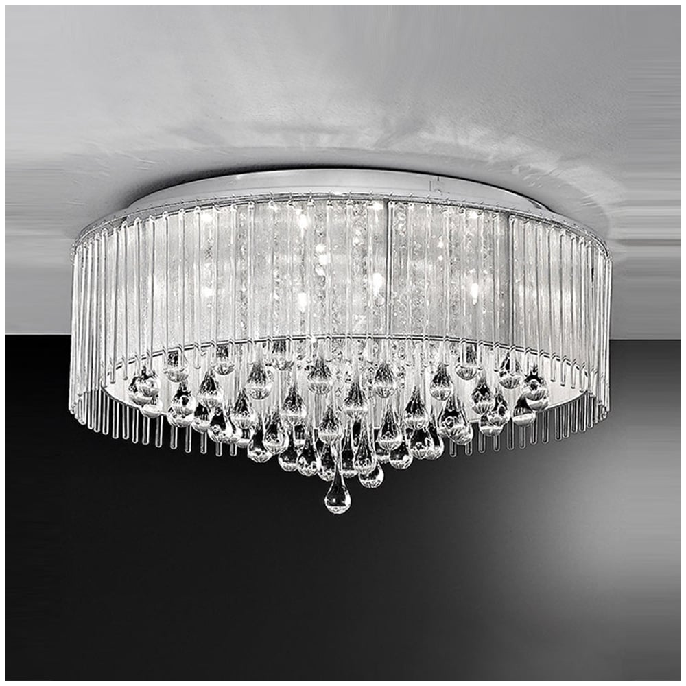 ceiling chrome lightbox light double lights ceilings searchlight ring product crystal n