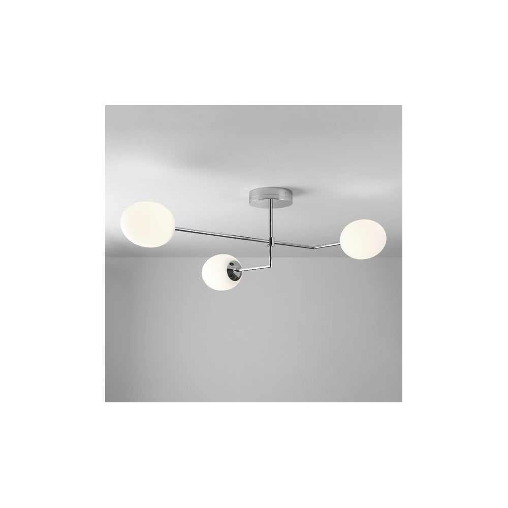 Astro Kiwi 3 Led Semi Flush Bathroom Ceiling Light