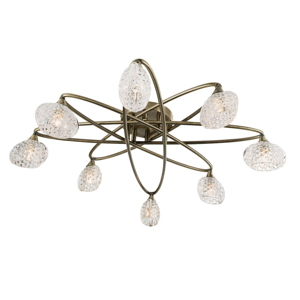 Ceiling Light Offers: Endon 60926 Eastwood 8 Light Ceiling Light Antique Brass