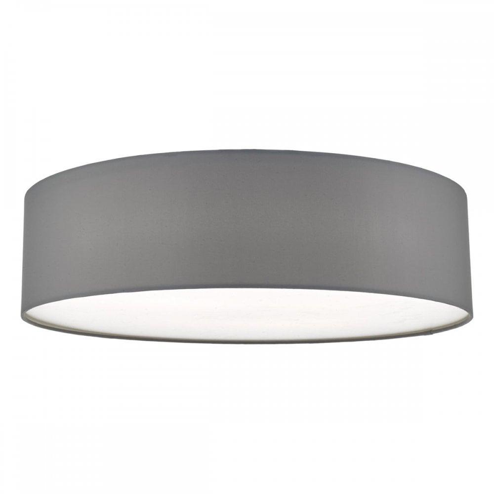 best website 40457 dea6c Dar Lighting CIE5039 Cierro 4 Light Flush Ceiling Light Grey