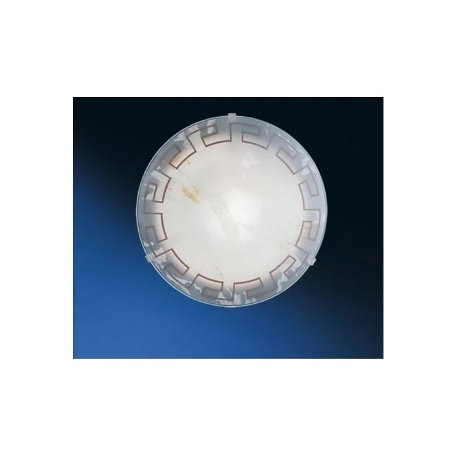 Eglo 82891 Twister 1 light traditional flush ceiling light marble effect glass greek style small