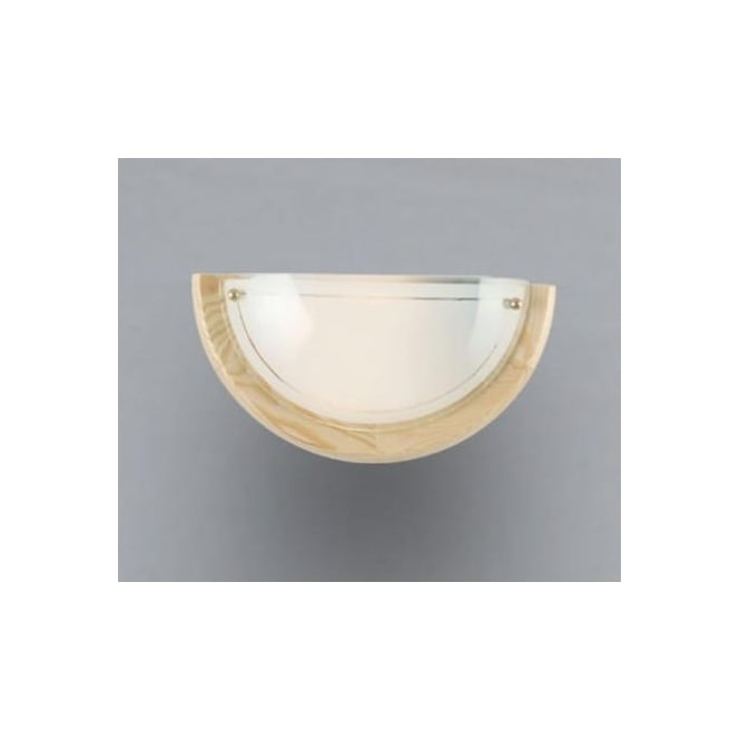 Eglo 3892 UFO1 1 light traditional wall light white opaque glass pine finish