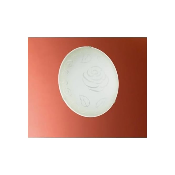 Eglo 89238 Mars1 1 light traditional flush wall/ceiling light circular satin glass rose decoration