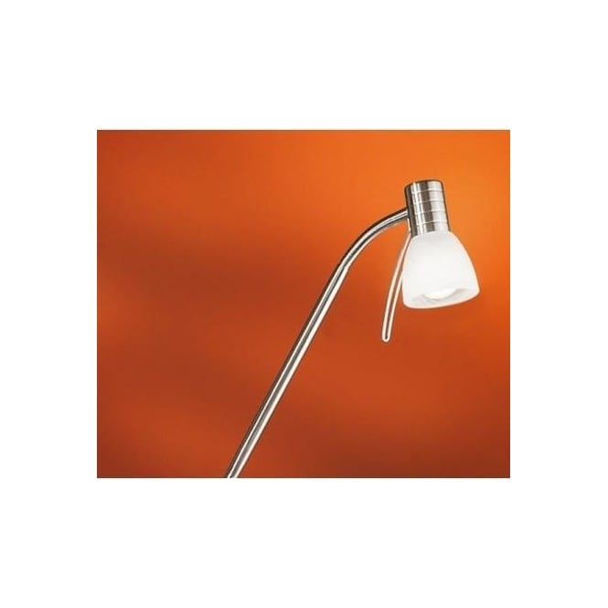 Eglo 86431 Prince1 1 light modern spotlight floor lamp adjustable with alabaster glass nickel matt finish