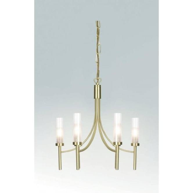 Endon 152-6SB 6 light modern ceiling pendant light satin brass