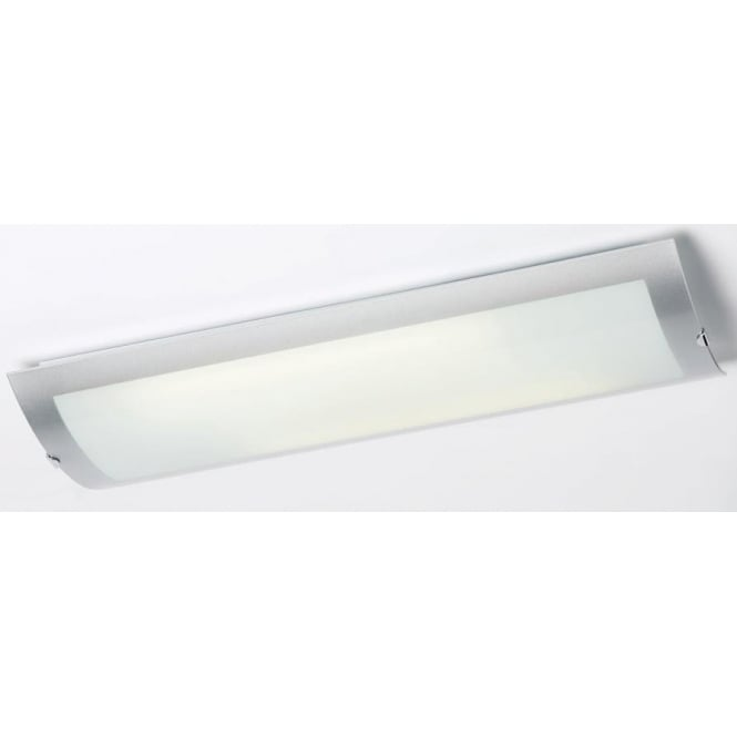 1405 67 plch 2 light modern low energy flush kitchen ceiling light opal glass