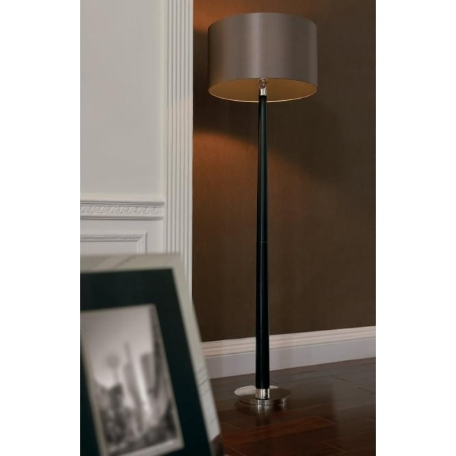 Endon Chasselas Envisage 1 Light Floor Lamp Wood mink