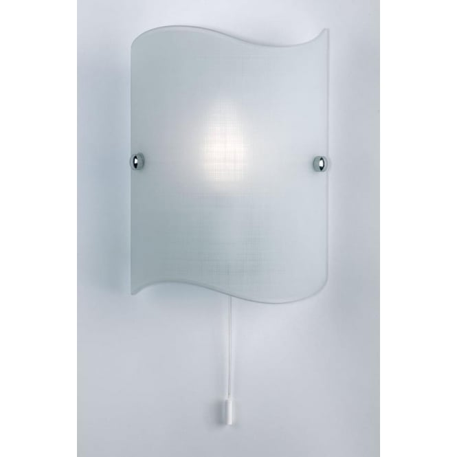 Endon 2017-WB 1 Light Modern Wall Light Glass (Switched)