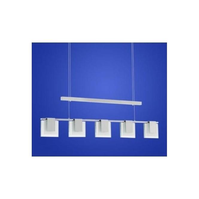 Eglo Eglo 90038 Clap 5 Light Modern Pendant Ceiling Light Chrome
