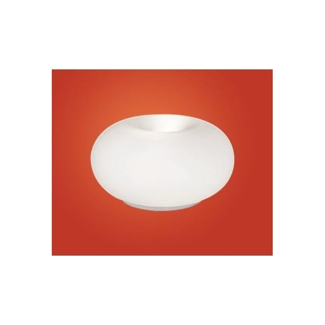 86818 Optica 2 Light Modern Table Lamp Opal And Nickel Matt Finish (small)