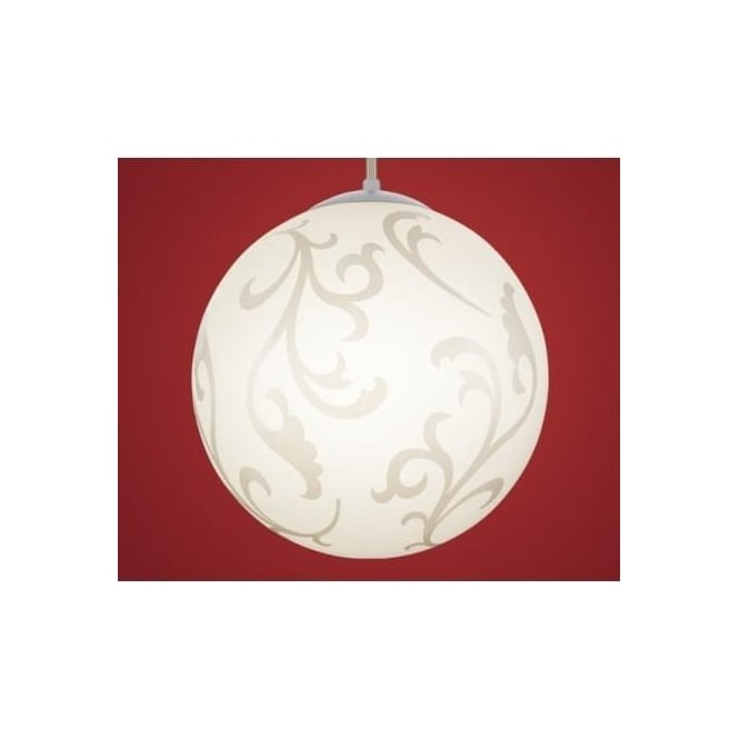 90743 rebecca 1 light modern ceiling pendant light nickel matt finish with decorative white glass