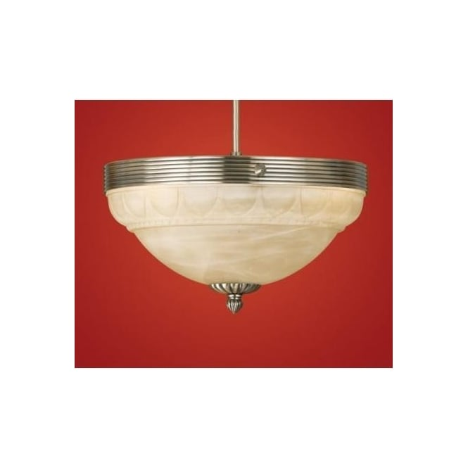 Eglo 85856 Marbella 3 light traditional ceiling light flush burnished brass finish