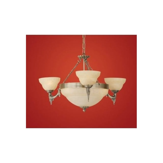 Eglo 85857 Marbella 6 light traditional ceiling light pendant burnished brass finish