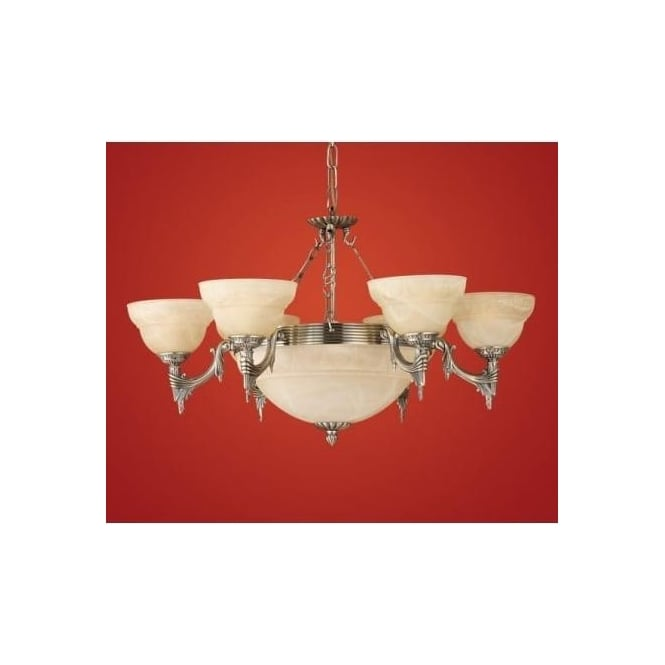 Eglo 85858 Marbella 9 light traditional ceiling light pendant burnished brass finish