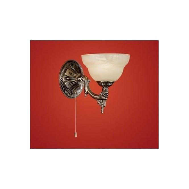 Eglo 85859 Marbella 1 light traditional wall light burnished brass finish