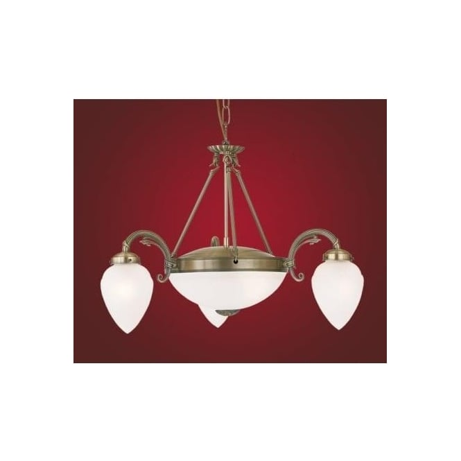 Eglo 82742 Imperial 5 light traditional ceiling light pendant burnished brass finish