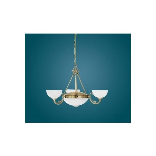 Eglo 82748 Savoy 5 light traditional ceiling light pendant burnished brass finish