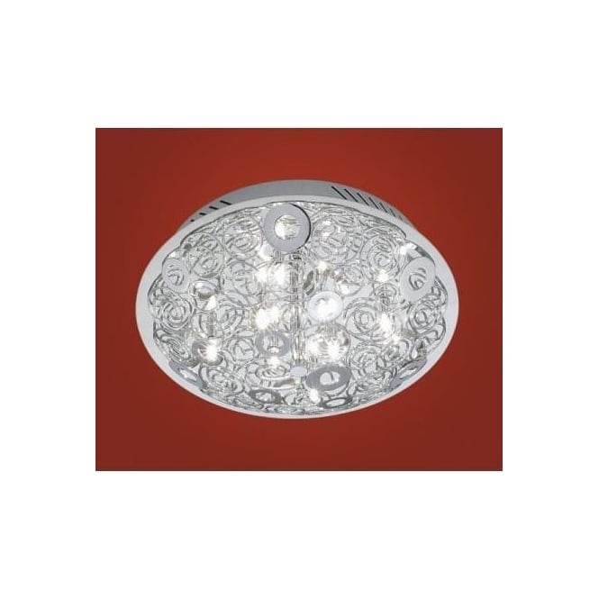 Eglo 90521 Cromer 8 light modern flush wall/ceiling light chrome finish