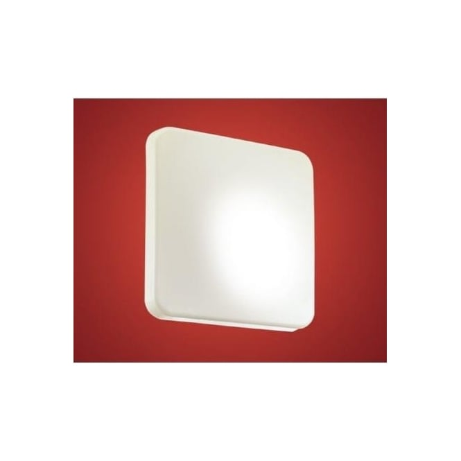 Eglo 89254 Giron low energy 1 light modern wall/ceiling light white plastic finish (small)