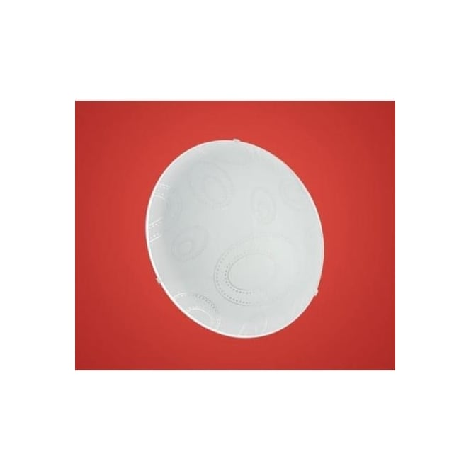 Eglo 90151 Scalea 1 1 light modern flush wall/ceiling light with a decorated glass shade
