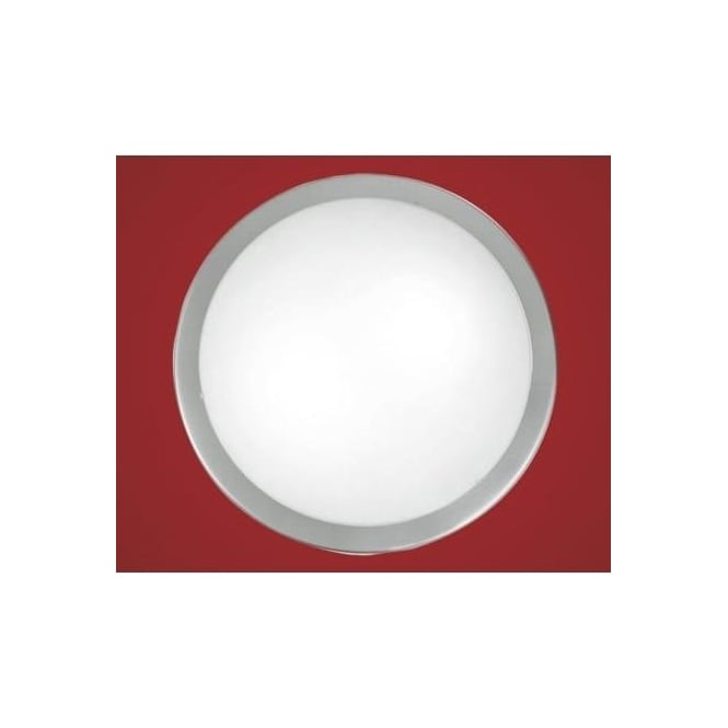 Eglo 82941 Planet 2 light modern wall/ceiling light nickel matt finish with a satinated glass shade