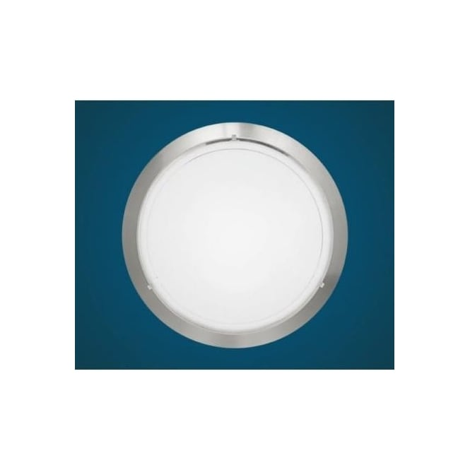 Eglo 83162 Planet 1 1 light modern wall/ceiling light nickel matt finish with a satinated glass shade