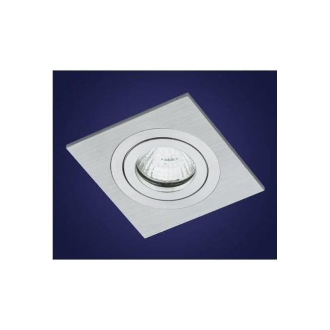 Eglo 90054 Terni 1 light modern recessed spotlight brushed aluminium finish