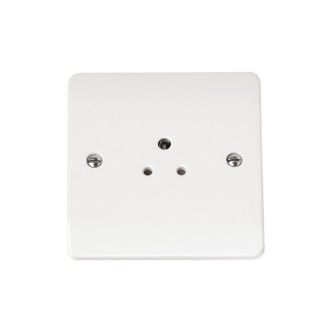 Click Mode CMA039 2 amp round pin socket outlet brilliant white plastic