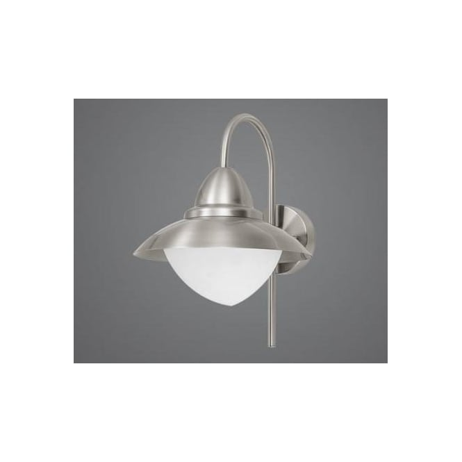 Eglo eglo 83966 sidney 1 light traditional outdoor wall light 83966 sidney 1 light traditional outdoor wall light frosted stainless steel finish ip44 rated aloadofball Images