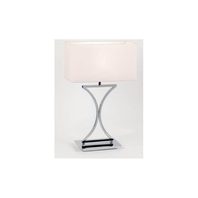 Endon endon 96930 tlch 1 light modern table lamp chrome finish white 96930 tlch 1 light modern table lamp chrome finish white shade aloadofball Choice Image