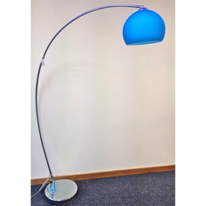 modern retro lighting. lrfloorblue 1 light modern floor lamp blue and polished chrome retro lighting p