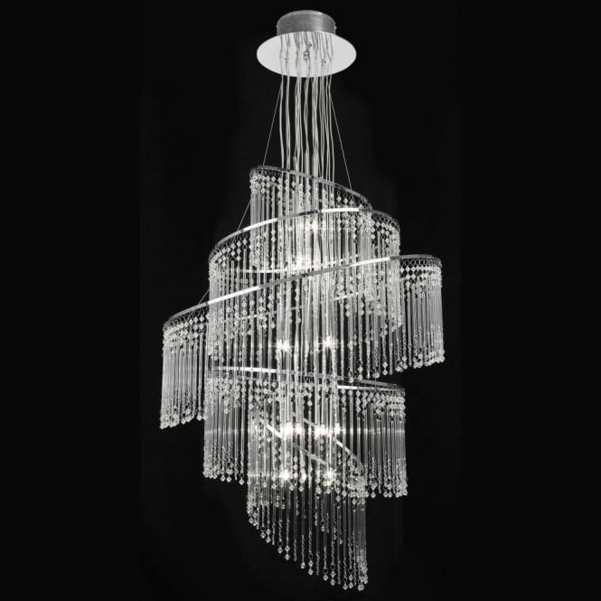 Endon chandelier lights camille 24ch camille 24 light glass chandelier chrome mozeypictures Choice Image