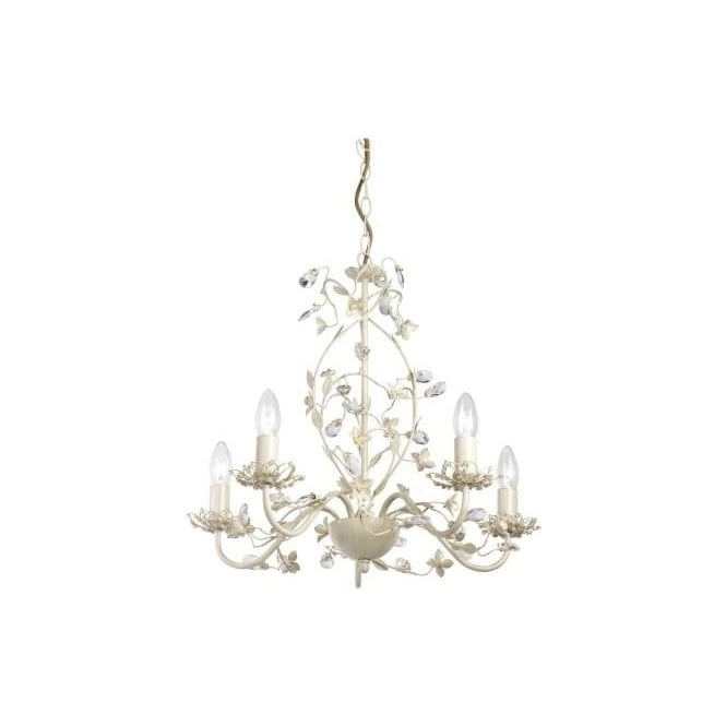 Endon LULLABY-5CR Lullaby 5 Light Ceiling Light Cream/Gold
