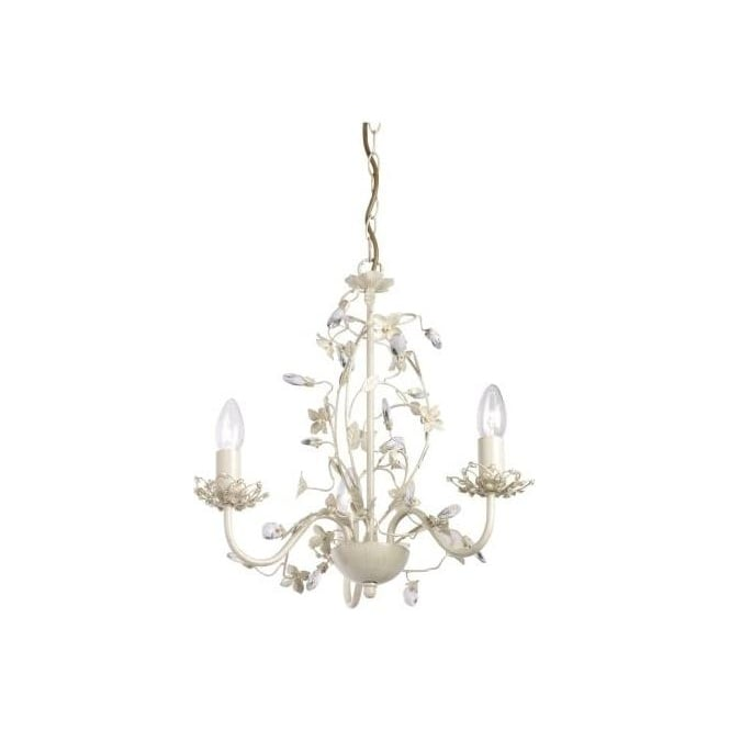 Endon LULLABY-3CR Lullaby 3 Light Ceiling Light Cream/Gold
