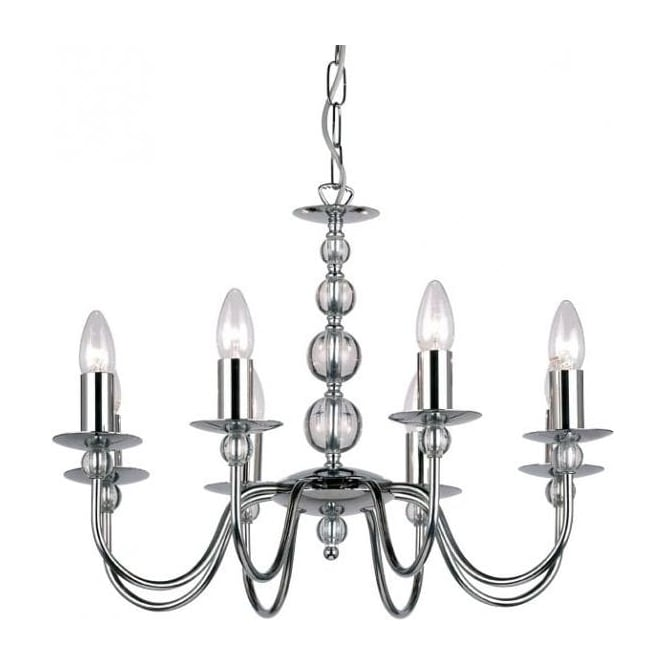 Endon 2013-8CH Parkstone 8 Light Ceiling Light Polished Chrome
