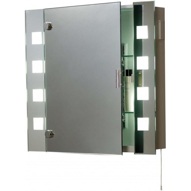 EL MILOS 2 Light Switched Low Energy Bathroom Mirror Cabinet IP44