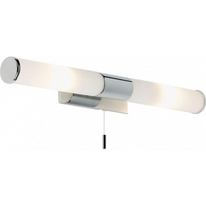 Endon EL-257-WB Romford 2 Light Switched Bathroom Wall Light Polished Chrome IP44