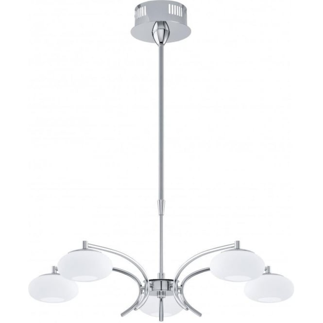 Eglo 91753 Aleandro 5 Light Ceiling Pendant Polished Chrome