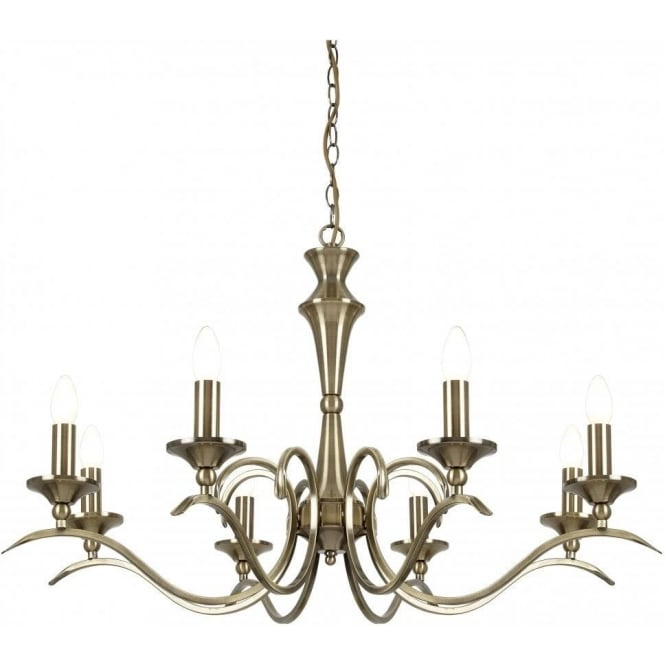 Endon KORA-8AB Kora 8 Light Ceiling Light Antique Brass