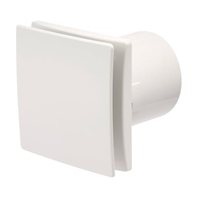 Manrose MDECO100TW Designer Bathroom Shower Toilet Timer Extractor Fan 100mm White Finish